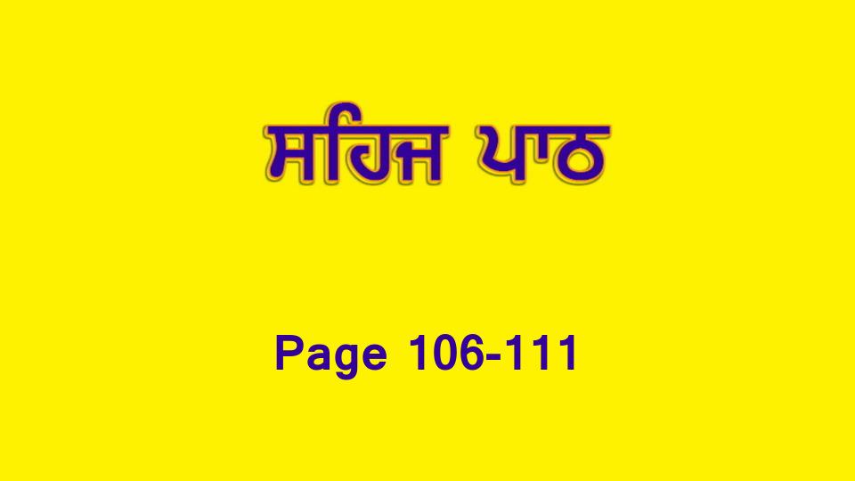 Sehaj Paath 022 (Page 106-111)