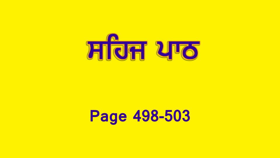 Sehaj Paath 108 (Page 498-503)
