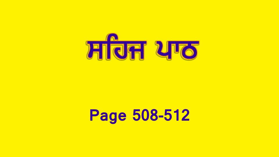 Sehaj Paath 110 (Page 508-512)