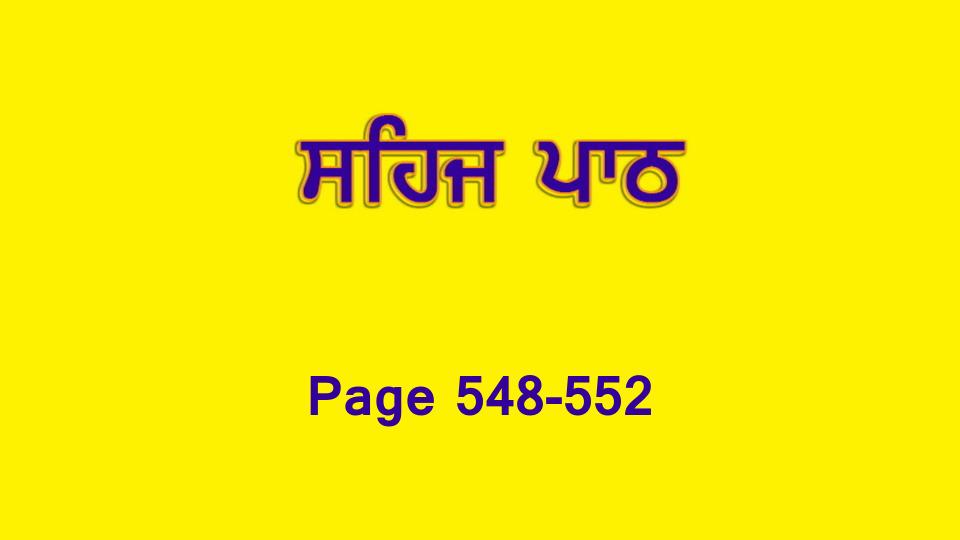 Sehaj Paath 119 (Page 548-552)