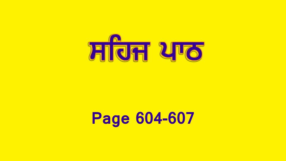 Sehaj Paath 132 (Page 604-607)