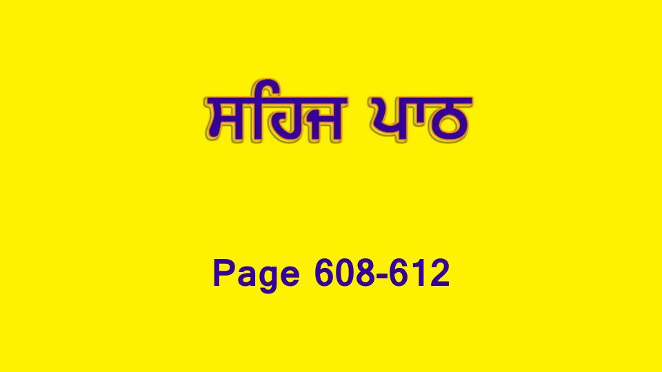 Sehaj Paath 133 (Page 608-612)