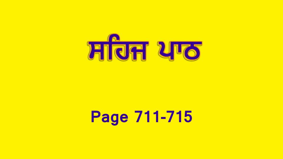 Sehaj Paath 156 (Page 711-715)