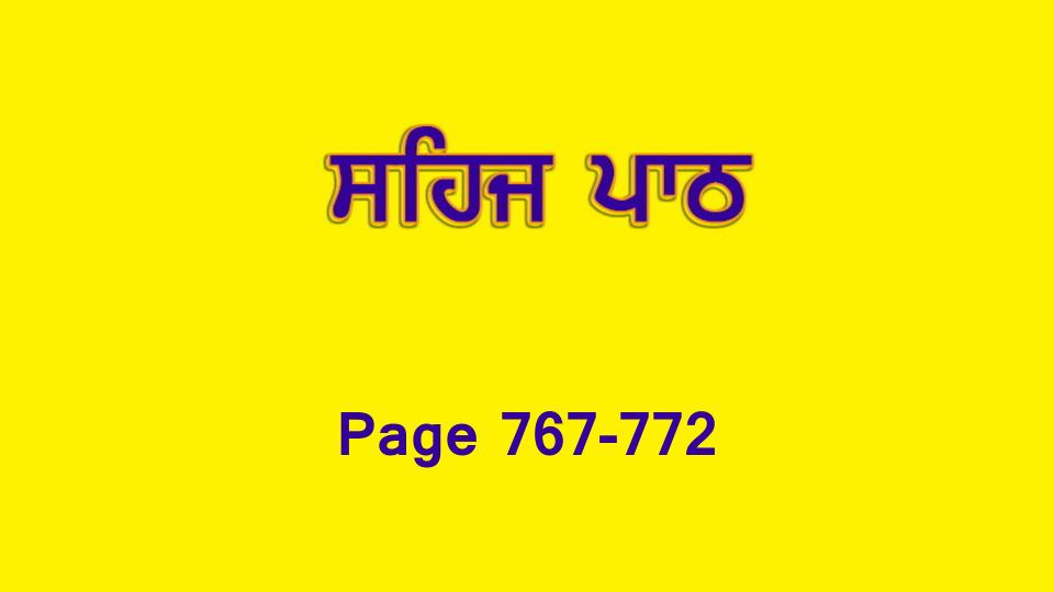 Sehaj Paath 169 (Page 767-772)