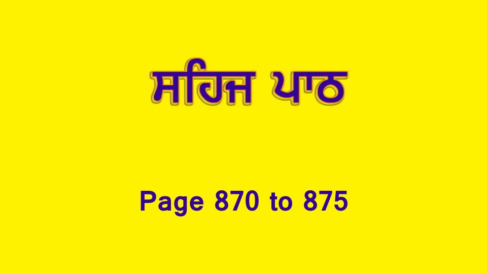 Sehaj Paath (Page 870 to 875) #192 by Daljit Singh Dhillon