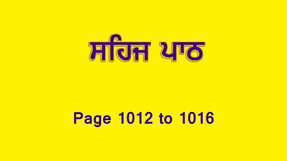 Sehaj Paath (Page 1012 to 1016) #222 by Daljit Singh Dhillon