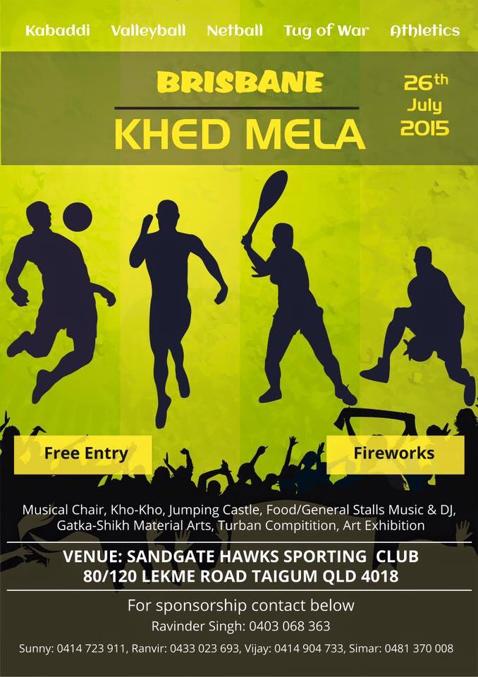 Brisbane Khed Mela 26th July 2015