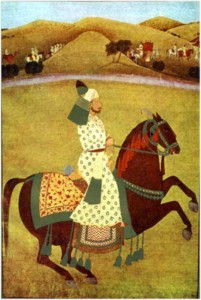 paca008_raja_goverdhan_chand_riding_his_favourite_horse
